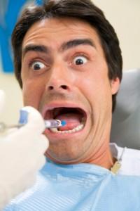 Tandlægeskræk med sprøjte